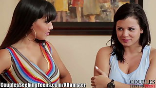 Keisha Grey Spies on Older Couple and Joins