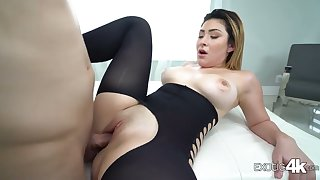 Big racked cock rider Serena Skye is so happy to be poked doggy style