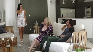 Aiden Starr and Katya Rodriguez unwashed their friend's oversize penis