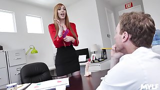 hot secretary Lauren Phillips adores sex with will not hear of colleague in will not hear of office