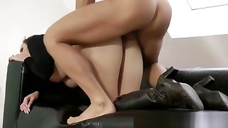 Grown up in stockings gets roughly fucked
