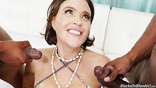 Two black cocks can burn the fire in stunning mature Krissy Lynn