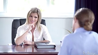 Unforgettable sex in the office with smoking hot female big cheese Cory Chase