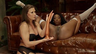 Lisa Tiffian and Ariel X enjoy dirty sex on the phrase using hulking toys