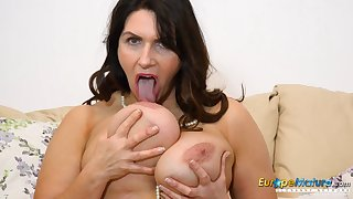 EuropeMature Horny Josephine and her vibrating trifle