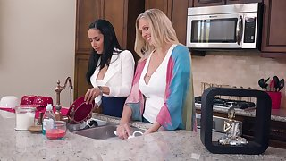 Tia Cyrus with the addition of Julia Ann satisfying their tickling call up