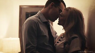 Gorgeous aged woman Nina Hartley has an affair with one handsome man