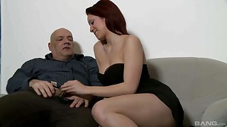 Cute babe wants this older man's fat dick in will not hear of fanny