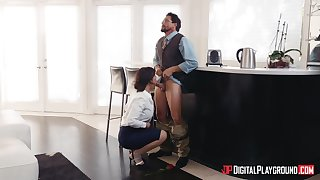 Great White Father wife Syren De Mer spreads her hooves for butt fucking