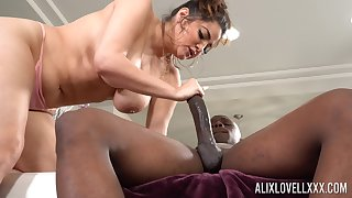 Monster dick in tight pussy of chubby ashen lady Alix Lovell